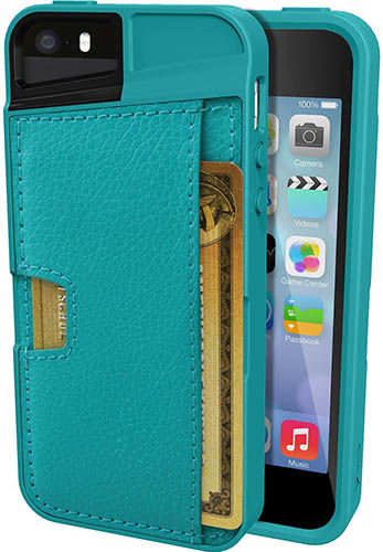 6. iPhone 5/S/SE Wallet Case - Q Card Case