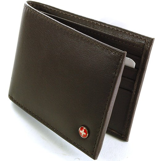 10. Swiss Mens Leather Flipout ID Wallet