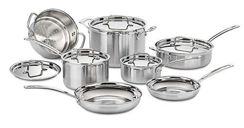 6. Cuisinart MultiClad Pro Stainless Steel Set