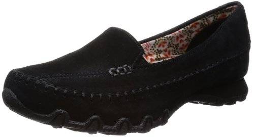 7. Skechers Women's Bikers Pedestrian Memory Foam Slip-On Moccasin