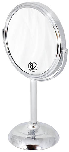 8. Swivel Vanity Mirror with 8x Magnification