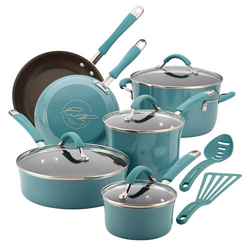 4. Cucina Hard Porcelain Cookware Set