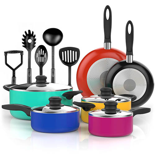 5. NonStick Color Pop Cookware set