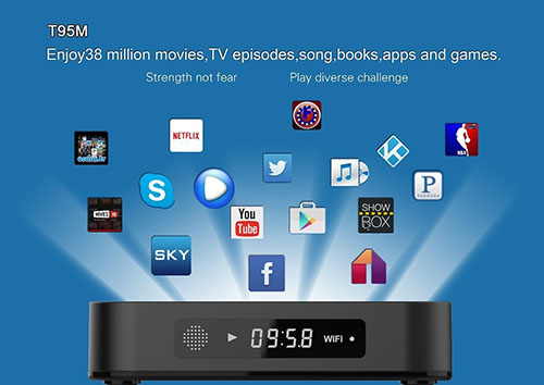 5. T95m android TV Box-update