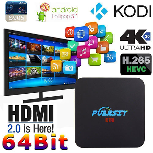 8. NEW Puersit TV BOX